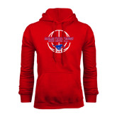 Red Fleece Hoodie-Mustang in Basketball