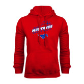 Red Fleece Hoodie-Angled Basketball Design