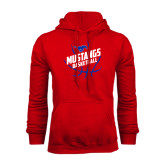 Red Fleece Hoodie-Angled Mustangs in Basketball