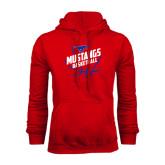 Red Fleece Hood-Angled Mustangs in Basketball