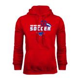 Red Fleece Hood-Soccer Swoosh