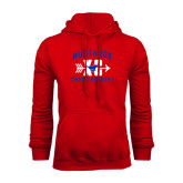 Red Fleece Hoodie-Cross Country Design