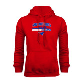 Red Fleece Hoodie-Rowing Profile Design