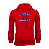 Red Fleece Hoodie-Rowing Design