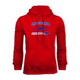 Red Fleece Hood-Rowing Design