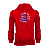 Red Fleece Hoodie-Swim and Dive Design