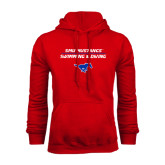 Red Fleece Hoodie-Stacked Swim and Dive Design