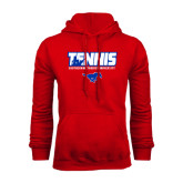Red Fleece Hoodie-Tennis Design