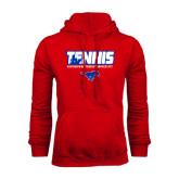 Red Fleece Hood-Tennis Design