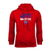 Red Fleece Hoodie-Game Set Match
