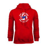 Red Fleece Hoodie-Mustang on Volleyball
