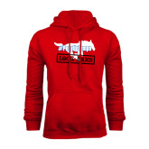 Red Fleece Hoodie-#PonyUpTempo Lock Arms