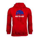 Red Fleece Hoodie-Mustangs Basketball Dallas Skyline