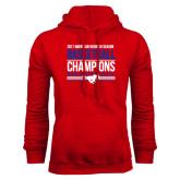 Red Fleece Hoodie-2017 AAC Regular Season Mens Basketball Champions Stacked