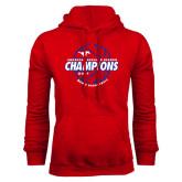 Red Fleece Hoodie-AAC Regular Season Champions 2017 Mens Basketball Lined Ball