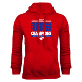 Red Fleece Hoodie-2017 AAC Regular Season Champions Repeating - Mens Basketball