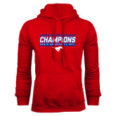 Red Fleece Hoodie-2017 AAC Regular Season Champions - Mens Basketball Stencil
