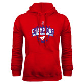 Red Fleece Hoodie-2017 AAC Conference Champions - Mens Basketball Arched Banner