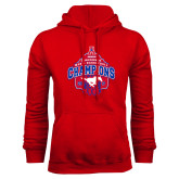 Red Fleece Hoodie-2017 AAC Conference Champions - Mens Basketball Arched Net