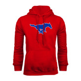 Red Fleece Hoodie-Official Outlined Logo