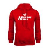 Red Fleece Hoodie-Mustang Mania