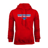 Red Fleece Hoodie-Stacked Mustangs w/ Pony