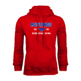Red Fleece Hoodie-Stacked Mustangs Design