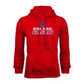 Red Fleece Hoodie-Go Red Go Blue Go SMU