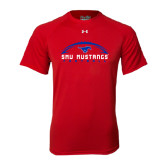 Under Armour Red Tech Tee-Arched Football Design