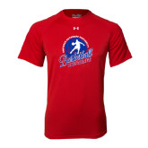 Under Armour Red Tech Tee-Player on Basketball Design
