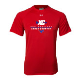 Under Armour Red Tech Tee-Stacked Cross Country Design