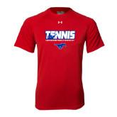 Under Armour Red Tech Tee-Tennis Design