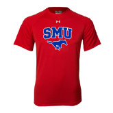 Under Armour Red Tech Tee-SMU w/Mustang