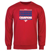 Red Fleece Crew-2017 AAC Regular Season Champions Repeating - Mens Basketball