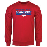Red Fleece Crew-2017 AAC Regular Season Champions - Mens Basketball Stencil