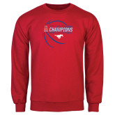 Red Fleece Crew-2017 AAC Conference Champions - Mens Basketball Contour Lines