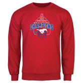 Red Fleece Crew-2017 AAC Conference Champions - Mens Basketball Arched Net
