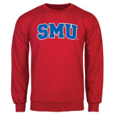 Red Fleece Crew-Block SMU