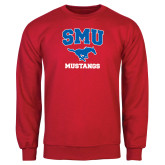 Red Fleece Crew-Stacked SMU w/Mustang