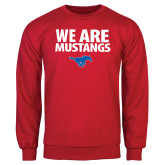 Red Fleece Crew-We Are Mustangs