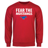 Red Fleece Crew-Fear the Mustangs