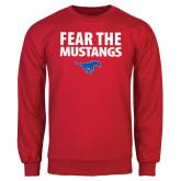 Red Fleece Crew-Fear the Mustangs