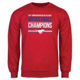 Red Fleece Crew-2017 AAC Regular Season Mens Basketball Champions Stacked