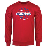 Red Fleece Crew-AAC Regular Season Champions 2017 Mens Basketball Lined Ball