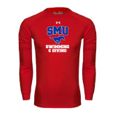 Under Armour Red Long Sleeve Tech Tee-Swimming and Diving