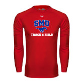 Under Armour Red Long Sleeve Tech Tee-Track and Field