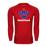 Under Armour Red Long Sleeve Tech Tee-Equestrian