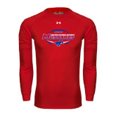 Under Armour Red Long Sleeve Tech Tee-Mustangs in Football
