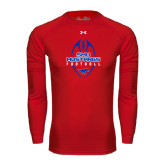 Under Armour Red Long Sleeve Tech Tee-Tall Football Design