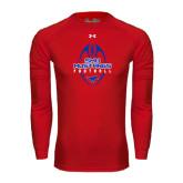 Under Armour Red Long Sleeve Tech Tee-Tall Football Design